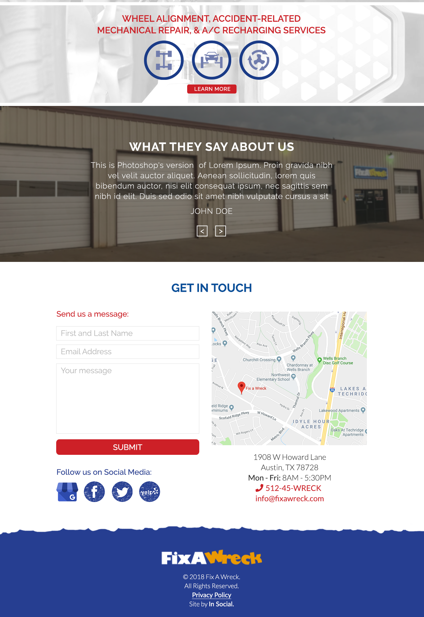 fixawreck website all services