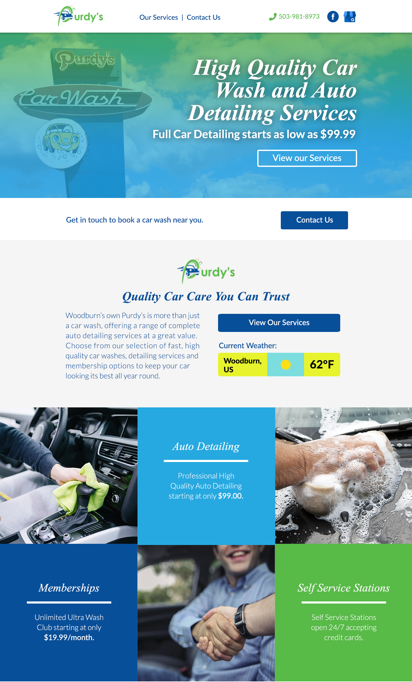 purdy's website home page
