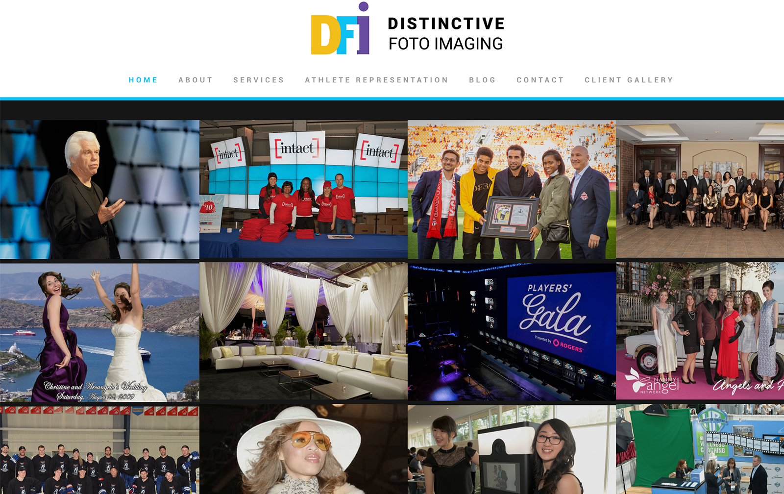 Distinctive Foto Website desktop
