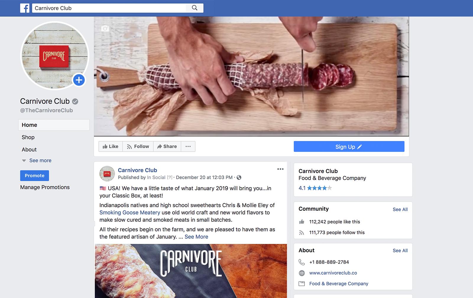carnivore club Facebook