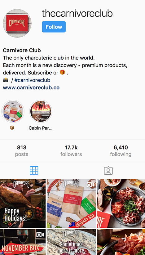 carnivore club instagram