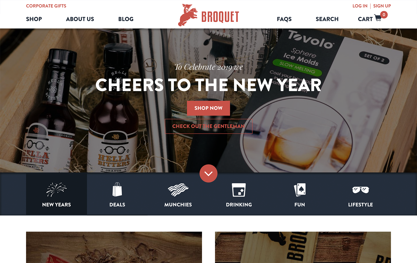 Broquet Website Desktop